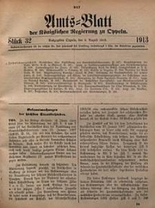 Amts-Blatt der Königlichen Regierung zu Oppeln, 1913, Bd. 98, St. 32