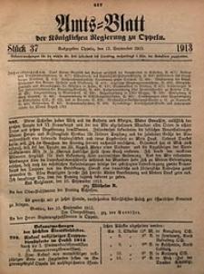 Amts-Blatt der Königlichen Regierung zu Oppeln, 1913, Bd. 98, St. 37