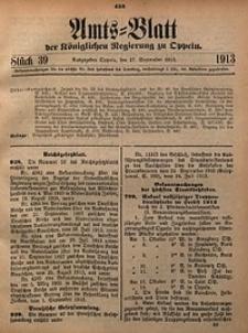 Amts-Blatt der Königlichen Regierung zu Oppeln, 1913, Bd. 98, St. 39