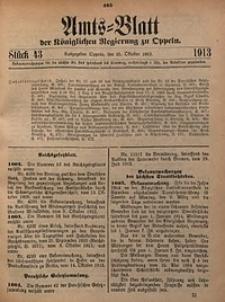 Amts-Blatt der Königlichen Regierung zu Oppeln, 1913, Bd. 98, St. 43