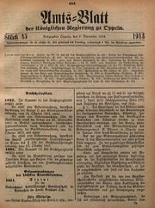 Amts-Blatt der Königlichen Regierung zu Oppeln, 1913, Bd. 98, St. 45