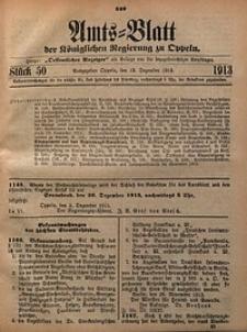 Amts-Blatt der Königlichen Regierung zu Oppeln, 1913, Bd. 98, St. 50
