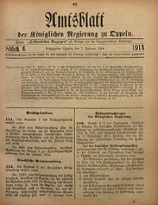 Amtsblatt der Königlichen Regierung zu Oppeln, 1914, Bd. 99, St. 6