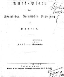 Amts-Blatt der Königlichen Preussischen Regierung zu Oppeln [1826], 11 Bd.