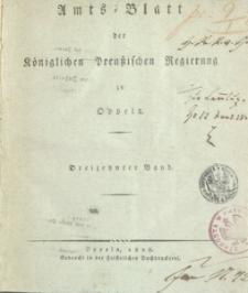 Amts-Blatt der Königlichen Preussischen Regierung zu Oppeln [1828], 13 Bd.