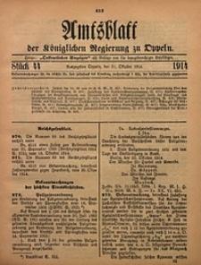 Amtsblatt der Königlichen Regierung zu Oppeln, 1914, Bd. 99, St. 44