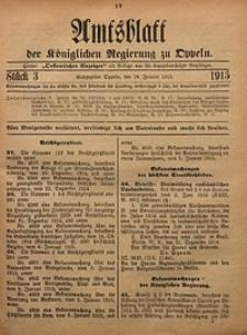 Amtsblatt der Königlichen Regierung zu Oppeln, 1915, Bd. 100, St. 3
