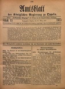 Amtsblatt der Königlichen Regierung zu Oppeln, 1915, Bd. 100, St. 13