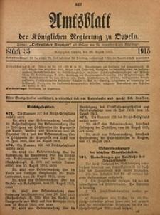 Amtsblatt der Königlichen Regierung zu Oppeln, 1915, Bd. 100, St. 35