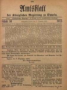 Amtsblatt der Königlichen Regierung zu Oppeln, 1915, Bd. 100, St. 50