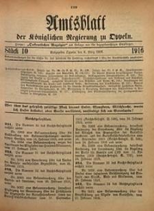 Amtsblatt der Königlichen Regierung zu Oppeln, 1916, Bd. 101, St. 10
