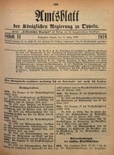 Amtsblatt der Königlichen Regierung zu Oppeln, 1916, Bd. 101, St. 11