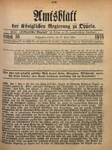 Amtsblatt der Königlichen Regierung zu Oppeln, 1916, Bd. 101, St. 16
