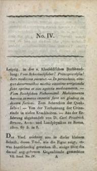 Bibliothek der practischen Heilkunde, 1802, Jg. 7, No. 4