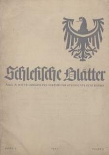 Schlesische Geschichtsblätter, 1941, Jg. 3, Folge 2