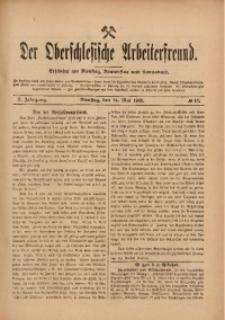 Der Oberschlesische Arbeiterfreund, 1909/1910, Jg. 10, No 17