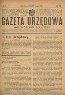 Gazeta Urzędowa Województwa Śląskiego, 1928, R. 7, nr 6