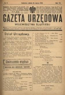 Gazeta Urzędowa Województwa Śląskiego, 1928, R. 7, nr 9