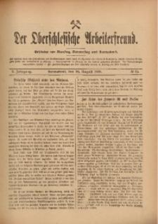 Der Oberschlesische Arbeiterfreund, 1909/1910, Jg. 10, No 63