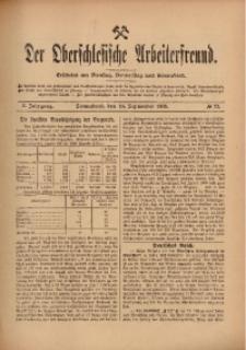 Der Oberschlesische Arbeiterfreund, 1909/1910, Jg. 10, No 72