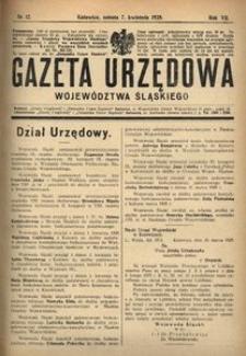 Gazeta Urzędowa Województwa Śląskiego, 1928, R. 7, nr 12