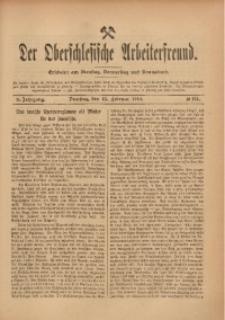 Der Oberschlesische Arbeiterfreund, 1909/1910, Jg. 10, No 134