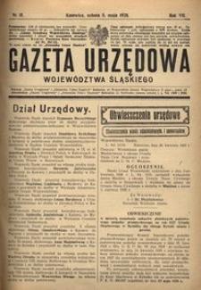 Gazeta Urzędowa Województwa Śląskiego, 1928, R. 7, nr 15