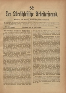 Der Oberschlesische Arbeiterfreund, 1910/1911, Jg. 11, No 2