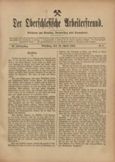 Der Oberschlesische Arbeiterfreund, 1910/1911, Jg. 11, No 8