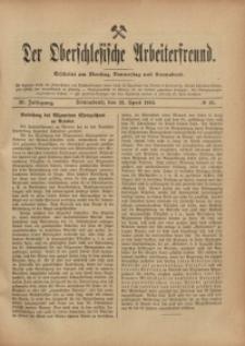 Der Oberschlesische Arbeiterfreund, 1910/1911, Jg. 11, No 10