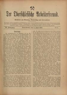 Der Oberschlesische Arbeiterfreund, 1910/1911, Jg. 11, No 27