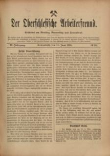 Der Oberschlesische Arbeiterfreund, 1910/1911, Jg. 11, No 30