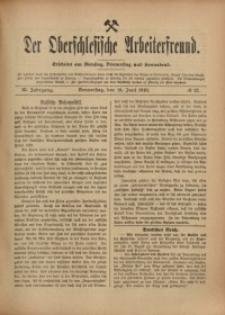 Der Oberschlesische Arbeiterfreund, 1910/1911, Jg. 11, No 32
