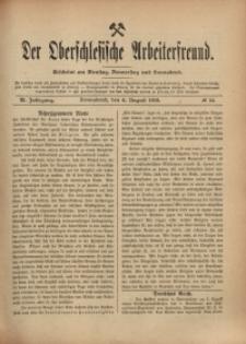 Der Oberschlesische Arbeiterfreund, 1910/1911, Jg. 11, No 54