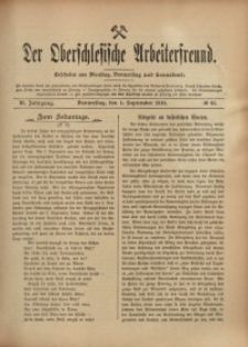 Der Oberschlesische Arbeiterfreund, 1910/1911, Jg. 11, No 65