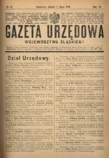 Gazeta Urzędowa Województwa Śląskiego, 1928, R. 7, nr 22