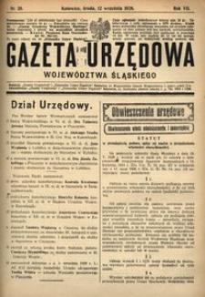 Gazeta Urzędowa Województwa Śląskiego, 1928, R. 7, nr 28
