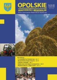 Opolskie Wiadomości Regionalne : pismo samorządowe Województwa Opolskiego 2008, nr 9 (49).