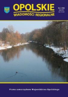 Opolskie Wiadomości Regionalne : pismo samorządowe Województwa Opolskiego 2012, nr 2 (90).