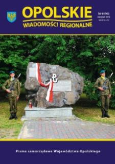 Opolskie Wiadomości Regionalne : pismo samorządowe Województwa Opolskiego 2012, nr 8 (96).