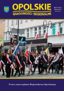 Opolskie Wiadomości Regionalne : pismo samorządowe Województwa Opolskiego 2013, nr 11 (111).