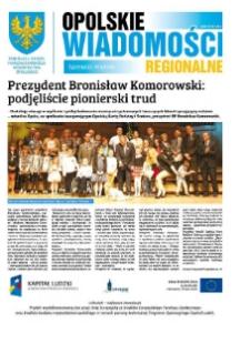 Opolskie Wiadomości Regionalne : publikacja Urzędu Marszałkowskiego Województwa Opolskiego 2014, nr 4 (116).
