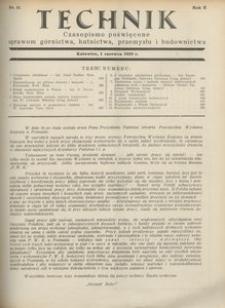 Technik, 1929, R. 2, nr 11