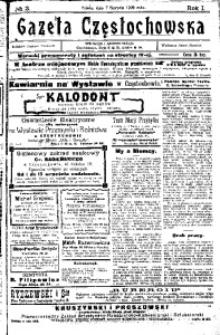 Gazeta Częstochowska, 1909, R. 1, No 3