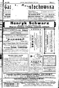 Gazeta Częstochowska, 1909, R. 1, No 25