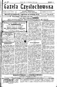 Gazeta Częstochowska, 1909, R. 1, No 37