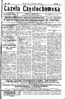 Gazeta Częstochowska, 1909, R. 1, No 48