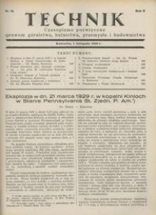 Technik, 1929, R. 2, nr 21