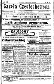 Gazeta Częstochowska, 1909, R. 1, No 59