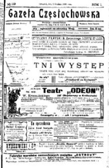 Gazeta Częstochowska, 1909, R. 1, No 119